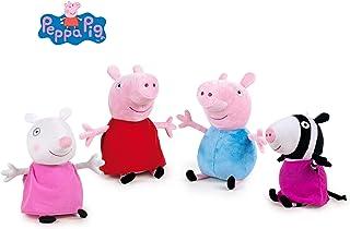 Peppa Pig - Pack 4 Peluches George+Peppa+Zöe Cebra+Suzy Oveja 7'48