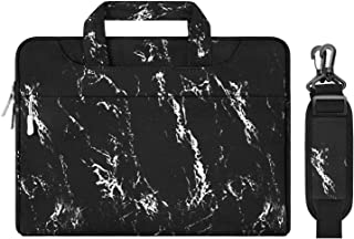 MOSISO Laptop Shoulder Bag Compatible with MacBook Pro/Air 13 inch, 13-13.3 inch Notebook Computer, Marble Pattern Carryin...