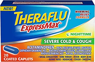 Theraflu ExpressMax Caplets for Nighttime Severe Cold and Cough (20-count)