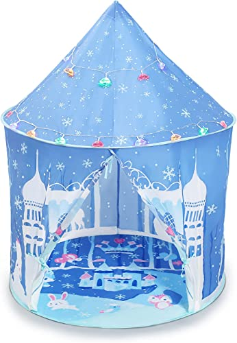 discount Princess Castle Play Tent with new arrival Colorful Light, Girls Pop Up Tent Kids Playhouses for Indoor lowest and Outdoor Use outlet sale