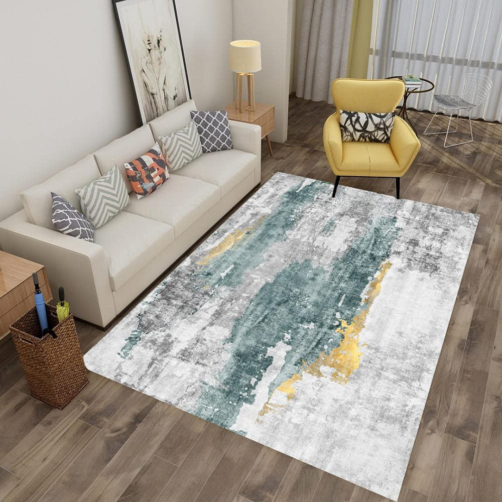 Rectangle Contemporary Large Area Carpet Modern Super popular specialty store Room Fresno Mall Dining Vin