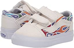 (Sparkle Flame) Rainbow True White. 109. Vans Kids. Old Skool V (Infant  Toddler).  25.28MSRP   40.00 09058627e