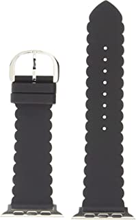 kate spade new york black scallop silicone 42/44mm apple watch  strap - KSS0032, Black
