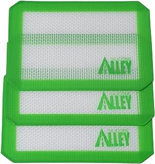 SILICONE ALLEY, 3 Non-Stick Silicone Mat Pad, Small Rectangle 5 X 4 Inch, Green