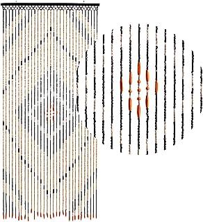 Hab & Gut -DV0151- Cortina para Puertas Madera, MARRÒN, 90 x 200