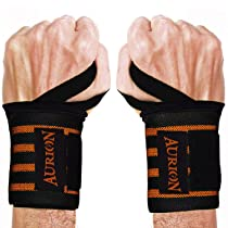 Aurion Wrist Wraps 19″ Professional Grade with Thumb Loops – Wrist Support Braces