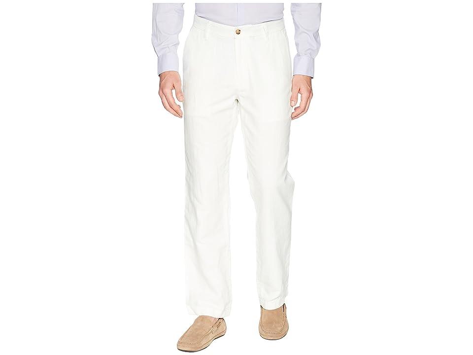 Nautica Classic Fit Linen Pants (Marshmellow) Men