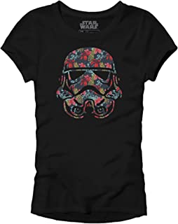 Star Wars Stormtrooper Storm Trooper Tropical Floral Flower Funny Humor Pun Juniors Slim Fit Adult Graphic Tee T-Shirt