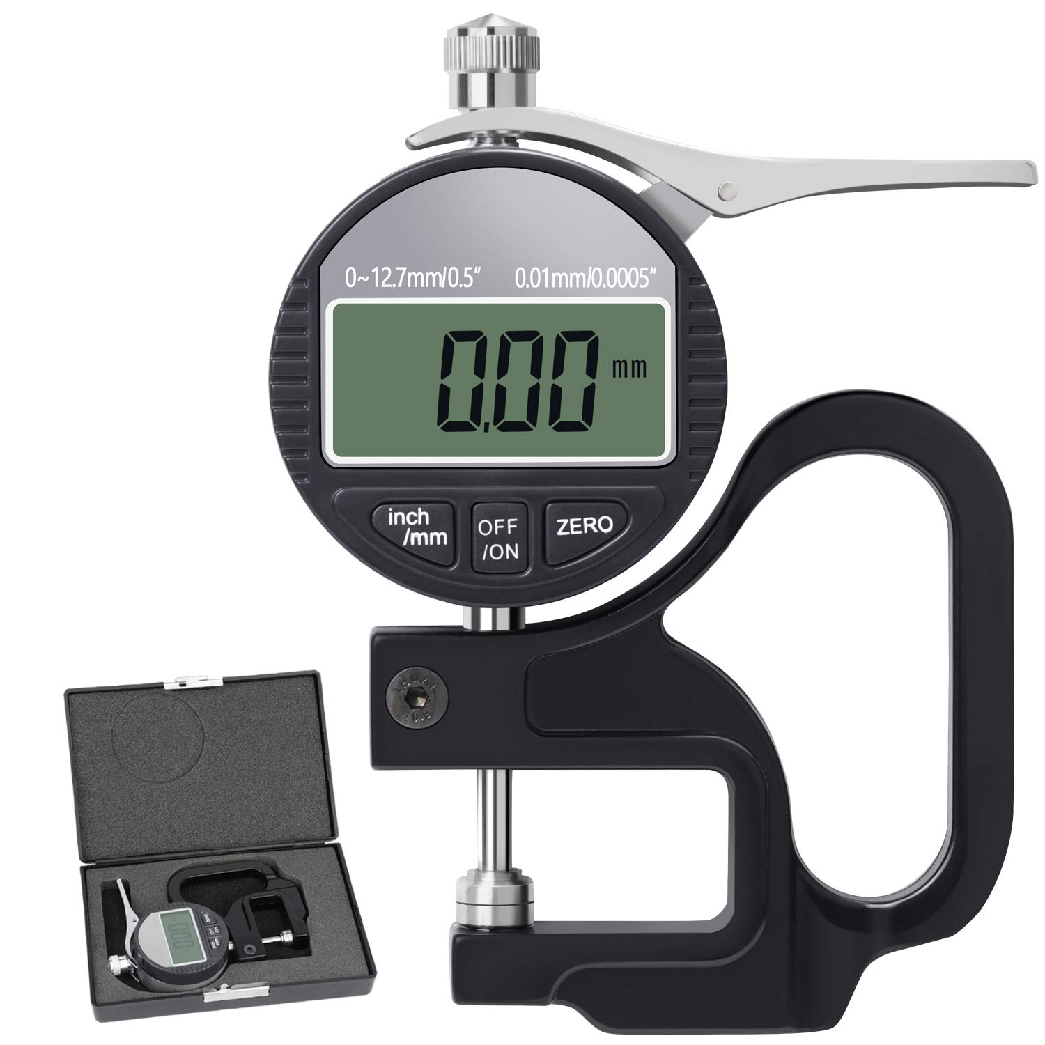 BNISE Digital Thickness Gauge 0.5 0.01mm T Max 53% OFF Limited time sale inch 0.0005