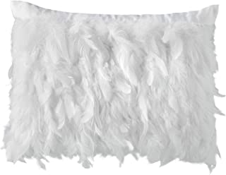 Filled Kylie Minogue Avellino Oyster Faux Feathers Satin 35cm x 45cm Cushion Pillow Case Sham