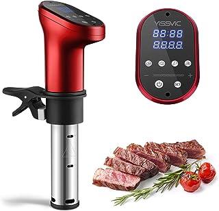 YISSVIC Sous Vide Aparato de Cocina Precisión 1200W Circulador Control de Temperatura de Precisión Cocción Baja Temperatura a Prueba de Agua IPX7