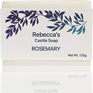 Rebecca's Castile Soap - Natural & Handmade - With Cold-Pressed Olive Oil, Organic Virgin Coconut Oil, Organic Shea Butte...