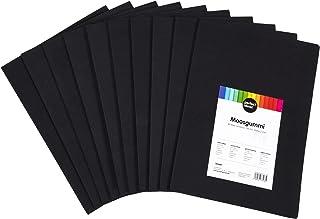 perfect ideaz 30feuilles de papier mousse noir DIN-A4, plaques de mousse de couleur noire, 2mm d'épaisseur, set mousse p...