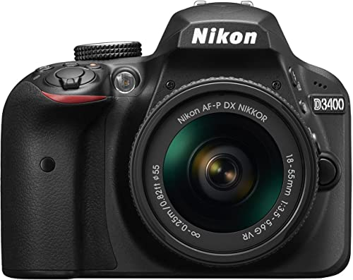 Nikon D3400 24.2 MP Digital SLR Camera (Black) + AF-P DX Nikkor 18-55mm f/3.5-5.6G VR Lens Kit + 16GB Card + Camera Bag product image