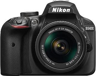 Nikon D3400 24.2 MP Digital SLR Camera (Black) + AF-P DX Nikkor 18-55mm f/3.5-5.6G VR Lens Kit + 16GB Card + Camera Bag