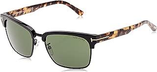 Men's River Clubmaster Sunglasses in Matte Black & Tort FT0367 02B 57