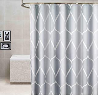 KEMIYIXIAN Shower Curtain with Hooks, Waterproof Fabric Bath Curtain Machine Washable, Water Droplet Pattern, 72 x 72 inch