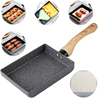 IBBM I WILL BE YOUR BEST MEMORY Tamagoyaki Japanese Omelette Pan/Egg Pan - Non-Stick Coating - Rectangle Frying Pan Mini Frying Pan – Grey