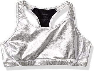inhzoy Kids Girls Glittery Letter Printed Racer Back Short Crop Top Sports Gymnastic Dance Shirt Tank