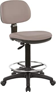 Office Star DC Series Drafting Chair with Molded Seat and Adjustable Foot Ring, Dillon Stratus Faux Leather Fabric