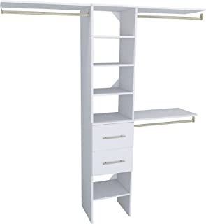 ClosetMaid 1937440 SuiteSymphony Modern 16-Inch Closet Organizer with Shelves and 2-Drawers, Pure White