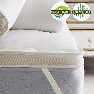 Airmax Bamboo Mattress Topper 1000GSM Air Mesh Sidewall Machine Wash (King Single)
