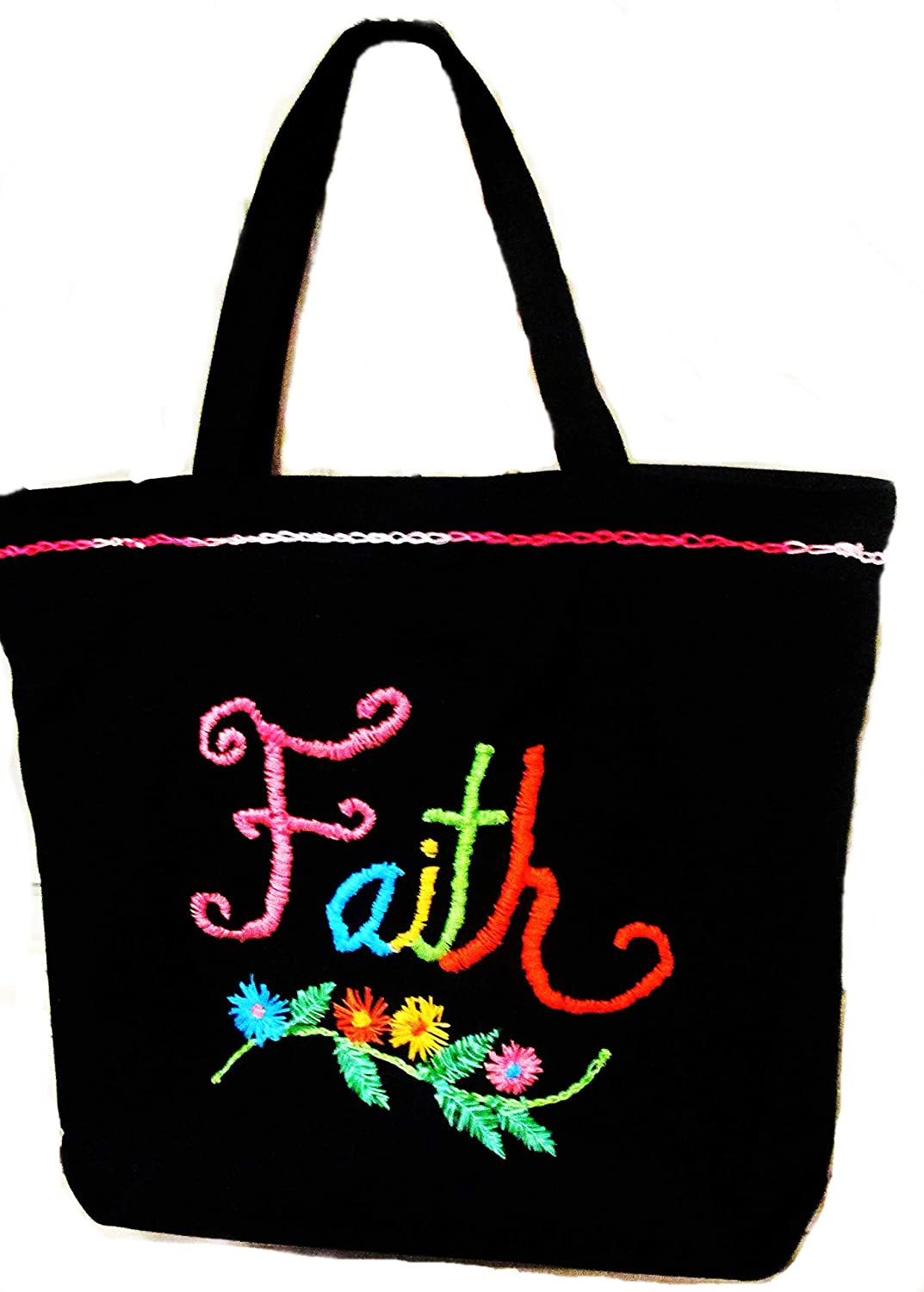 Black Tote - outlet Ranking TOP3 Religious-Faith large Zippered