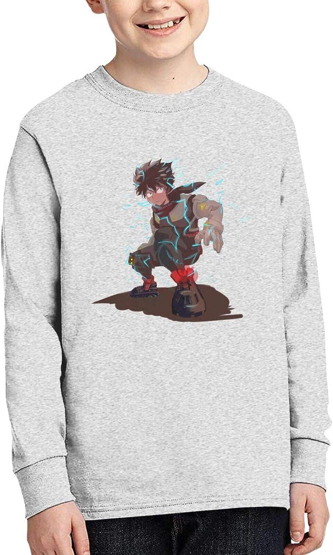 Teen Boys' Cotton 3D Printed Fashion Round Neck Long Sleeve T-Shirt Anime Graphic Tees Shirt Tops