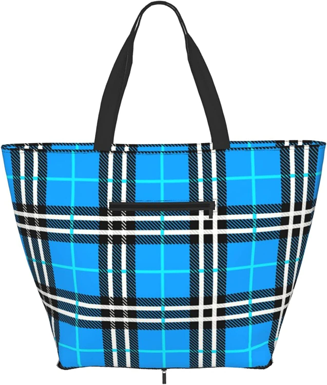 Shoulder Tote Bag Blue High quality new Discount is also underway Tartan Plaid Handle Purse Top Style Satch