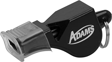 ADAMS USA Oct Cushioned Official/Referee Whistle Black, Standard Size