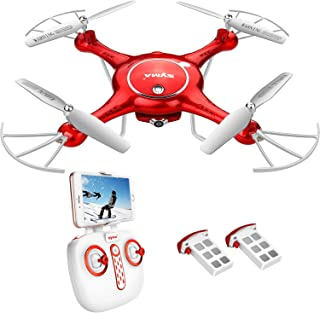 DoDoeleph Drone with HD Camera FPV Real-time WiFi Gravity Control RTF RC Quadcopter with Altitude Hold, Headless Mode, Flight Plan, 360 Rolls