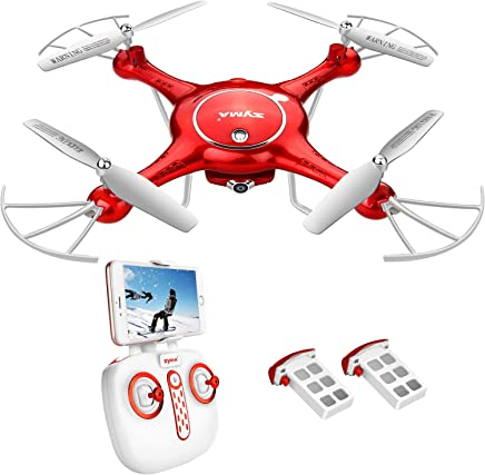 $98 » DoDoeleph Drone with HD Camera FPV Real-time WiFi Gravity Control RTF RC Quadcopter with Altitude Hold, Headless Mode, Flight Plan, 360 Rolls