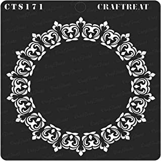 CrafTreat Stencil - Circle Hearts Doily - Reusable Painting Template for Journal, Notebook, Home Decor, Crafting, DIY Albums, Scrapbook and Printing on Paper, Floor, Wall, Tile, Fabric 6x6 inches