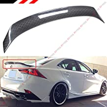 Cuztom Tuning Fits for 2014-2019 Lexus IS200 IS300 IS350 Art Style Honeycomb Pattern Carbon Fiber Trunk Spoiler Wing