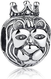 Authentique Roi Lion Argent sterling 925 Charms Pandora et autres bracelets  européens pour charms.