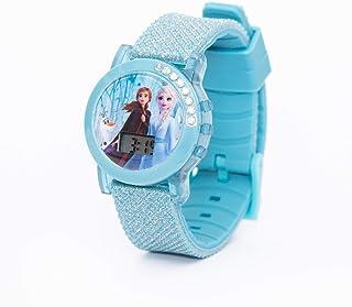 Disney Frozen Girls Glitter Silicone Strap Digital with Flashing Light Wristwatch - TRHA4133