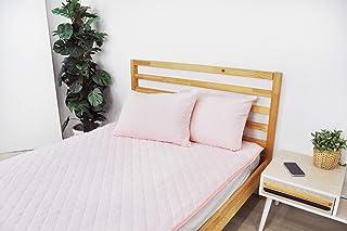 いろどりSTREET 敷きパッドシーツ シングル 抗菌防臭加工付き ライトピンク パイル 綿 100%