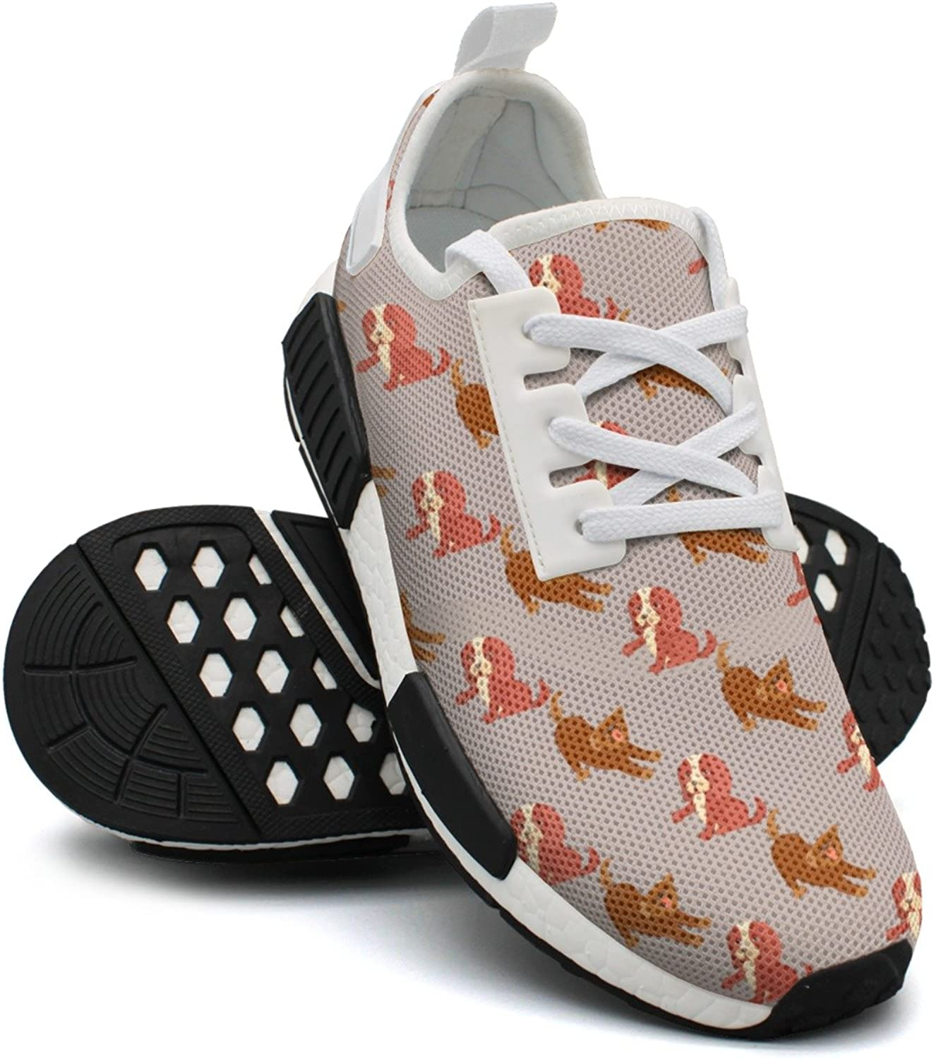 Cartoon Cavalier King Charles Spaniel Womens Jogging shoes Nmd Sport Tennis shoes