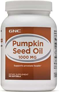 GNC Pumpkin Seed Oil 1000mg, 100 Softgels, Supports Prostate Health