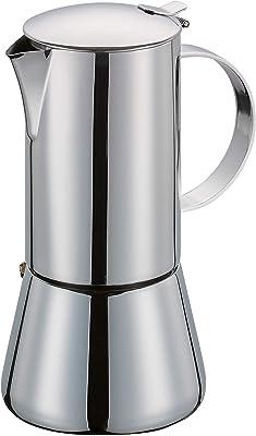 Cilio 342055 Cafetera para expresso, acero inoxidable pulido, 6 tazas, color Plata