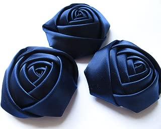 blue satin flowers