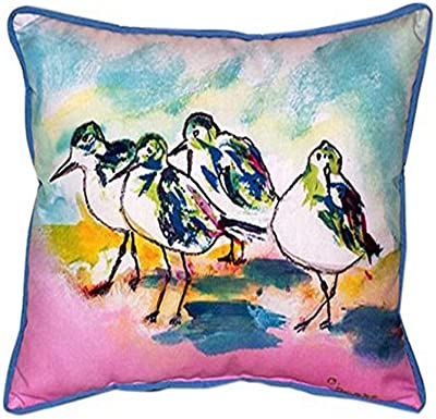 Betsy Drake Pelican On Rice Indoor Outdoor Pillow 20 X 24 Home Kitchen