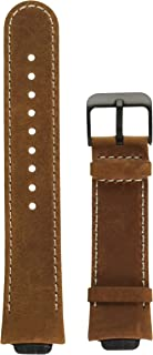Kartice for ASUS ZenWatch 3 Band,Vintage Genuine Leather Smart Watch Band Strap Replacement Watchband with Secure Metal Clasp Buckle for ASUS ZenWatch 3 WI503Q(brown-14mm)