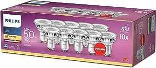 Philips LED GU10 Light Bulbs, 4.6 W (50 W) - Warm White, Pack of 10