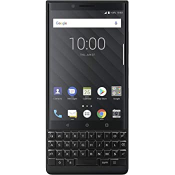 BlackBerry Key2 BBF100-6 64GB/6GB Dual Sim Factory Unlocked GSM ONLY, NO CDMA - International Version (no Warranty in The USA) (Black)