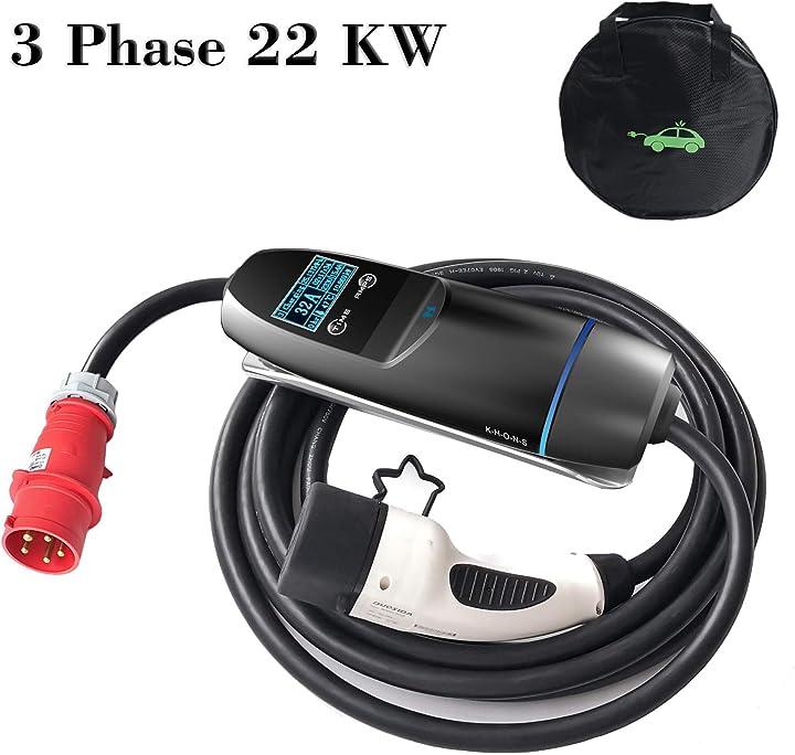Stazione di ricarica per auto elettrica  portatile 22kw- cee 5 poli 380v G2-KHONS-PE-32A-3P