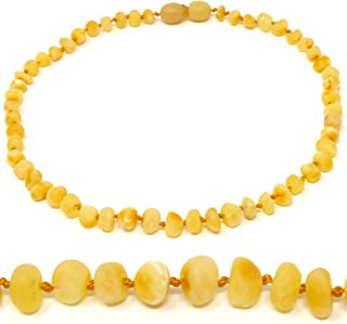 "Mama Natural Amber Necklace - 12.5"" - Truly Raw 100% Baltic Amber"