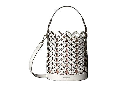 Kate Spade New York Dorie Small Bucket (Optic White) Handbags