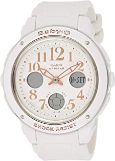 Casio Womens Quartz Watch, Analog-Digital Display and Resin Strap - BGA-150PG-2B1DR