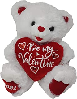 "2021 Valentine's Day 30th Anniversary Sweetheart Teddy Bear 18"" (White & Red)"